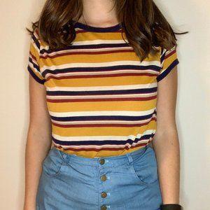 Vintage Mustard StripeTee